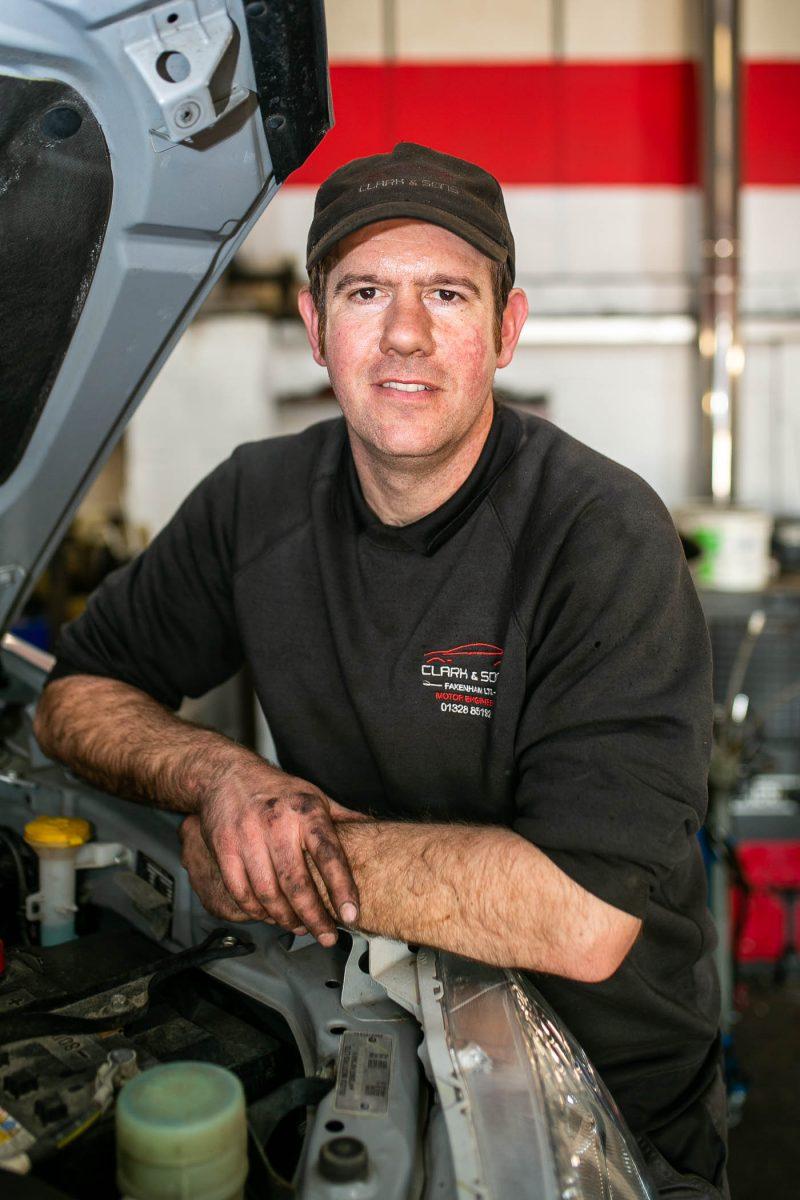 Neil Clark, Garage Owner, Clark & Sons